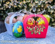 Velikonoční košíček / Návody na vyřezávání Cutting Plotter, Christmas Ornaments, Holiday Decor, Christmas Jewelry, Christmas Decorations, Christmas Decor