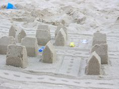 3D printed sand molds for instant sand towns by Digitprop on Etsy
