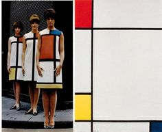 "Yves Saint Laurent ""Mondrian"" day dress, autumn 1965 and inspiration"