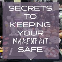 Do you have a lot of time and money invested into your makeup kit? Here are  some basic makeup 101 rules from seasoned makeup artist Margina Dennis on  keeping your makeup kit safe....even when you travel...