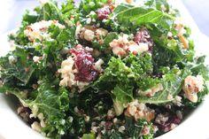 addicted. [kale & quinoa salad w. dried cranberries, walnuts & feta] - sweet caroline's cooking