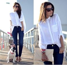 jeans +camisa branca