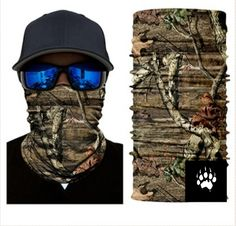 Blend in and stay concealed while protecting yourself from the elements with a Real Tree Camouflage Face Shield from Bushpro Outdoors. Camping Survival, Bass Fishing, Fish Mask, Real Tree Camouflage, Tactical Training, Scarf Sale, Half Face Mask, Balaclava, Military Army