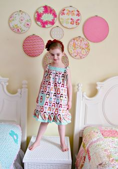 Come learn to sew this Easy Knot Dress Free Pattern and Tutorial by Lindsay Wilkes from The Cottage Mama. www.thecottagemama.com