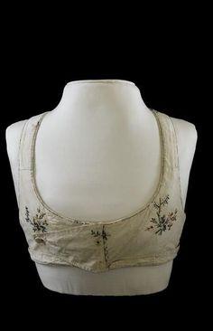 Corsage de l'impératrice Description : Vers 1805-1814 Pékiné broché de petits bouquets