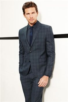 Charcoal Check Skinny Fit Suit: Jacket | My Personal Estilo and