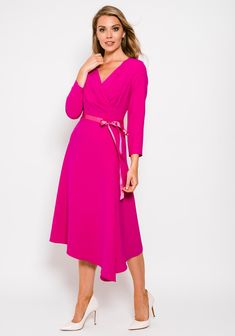 Caroline Kilkenny, Cerise Pink, Flare Dress, Fit And Flare, Victoria, Wedding, Vintage, Dresses, Style