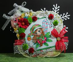 Hi Whimsy fans and welcome to Day 2 of our . 2014 Holiday Release - Part 1 This week we are releasing 22 *BRAND NEW* red rubber st. Christmas Elf, Christmas Projects, Christmas Wreaths, Holiday, Hand Coloring, Coloring Pages, Whimsy Stamps, Color Card, Digital Stamps