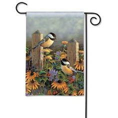 """Fencepost Pair Garden Flag by Magnet Works, Ltd.. $10.73. Pole sleeve slides through garden flag pole. Measures 12.5"""" x 18"""". MAIL33054 Features: -Fade and mildew resistant.-Machine washable.-Made in the USA. Construction: -Constructed of 100pct polyester. Dimensions: -Dimensions: 18'' H x 12.5'' W x 0.01'' D."""