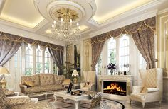 Living Room Luxury Living Room Decorating Ideas And Crystal Italian  Chandelier Feats Modern European Fireplace Modern Living Room With European  Style ...
