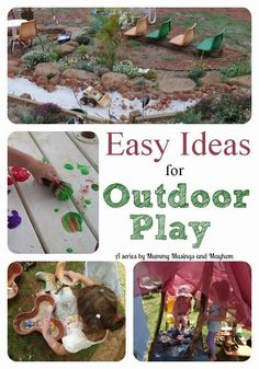 Easy Ideas and Inspiration for Outdoor Play – The Empowered Educator Easy Ideas & Inspiration for Outdoor Fun by Mummy Musings and Mayhem Outdoor Spa, Kids Outdoor Play, Outdoor Activities For Kids, Nature Activities, Toddler Activities, Backyard Kids, Outdoor Areas, Play Based Learning, Fun Learning