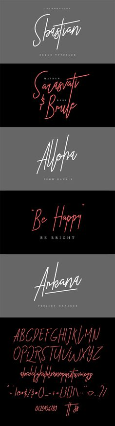Sbastian Signature Clean Typeface - Hand-writing Script Download here: https://graphicriver.net/item/sbastian-signature-clean-typeface/19367112?ref=alena994