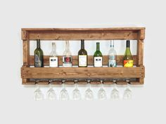 Rustic Wooden Wine Rack Wine Rack by DunnRusticDesigns on Etsy