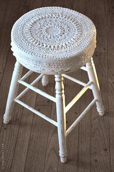 Mon carnet: crochet stool cover
