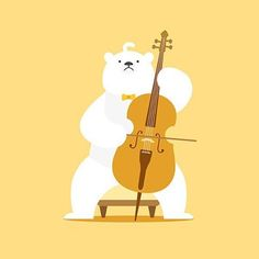 Have a good saturday!     by ann cheung #woodplashlabs #email #skype #berlin #warsaw #moscow #minsk #studio #animation #video #infographic #graphicdesign #app #illustration #animationwarszawa #postcard #polarbear #bear #cello #cellos