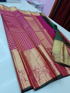 Bridal Sarees South Indian, Wedding Silk Saree, Kanjivaram Sarees Silk, Pure Silk Sarees, Saree Blouse Patterns, Saree Blouse Designs, Saree Gown, Embroidery Saree, Bridal Blouse Designs