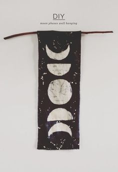DIY moon phase wall hanging.                                                                                                                                                                                 More