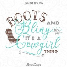boots and bling svg,