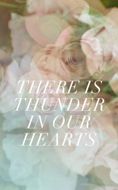 there is thunder in our hearts // fieldguided print (a gentle thunder mind you, but it is there when needed;)