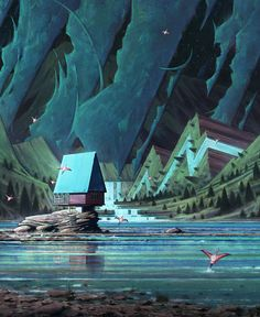 Lake/Side by N-Ames | Illustration | 2D | CGSociety Nic Ames