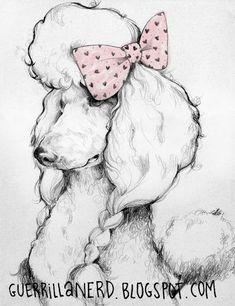 Poodle Dog #DogsInArt
