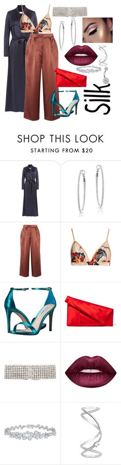 """""""silky & sexy 💗"""" by barelycutedoe ❤ liked on Polyvore featuring Galvan, Anne Sisteron, TIBI, Katie Eary, Steve Madden, Diane Von Furstenberg, ERTH, Lime Crime, Harry Winston and Maison Margiela"""