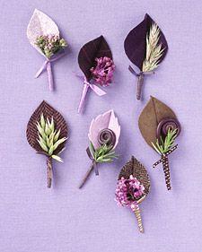 Leaf Boutonniere by marthastewart #Boutonniere #Martha_Stewart