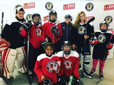 Some of our Girls Camp hockey players pose for a picture with USA Olympian Kendall Coyne! Youth Hockey, Girls Camp, Hockey Players, Olympians, Our Girl, Kendall, Christmas Sweaters, Poses, Usa