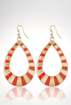 Plus Size Teardrop Cut Out Colorblock Earrings   Plus Size View All Jewelry   Avenue