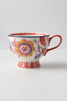 I have 4 different mugs/teacups from Anthropologie and I am obsessed with them!