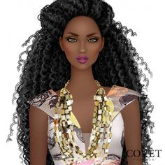 Black Love Art, Black Girl Art, My Black Is Beautiful, Covet Fashion, Fashion Art, Curly Hair Styles, Natural Hair Styles, Black Girl Cartoon, African Art Paintings