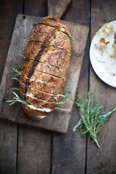 Rustic Herb Garlic Bread. Sunday brunch inspiration #bakingbread