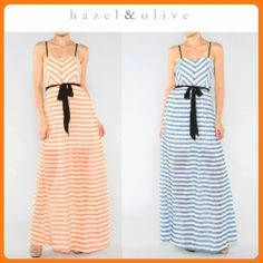 Stripes never go out of style! Sheer skirt dress-- easy and stylish Hazel & Olive Boutique>> Tumblr