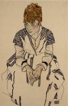 Egon Schiele, Bildnis der Schwägerin des Künstlers, Adele Harms - Portrait of the Artist's Sister-in Law, Adele Harms | 1917 | © Albertina, Wien #art #EgonSchiele #ModernArt #Schiele