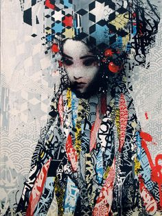 Hush is a British graffiti artist who merges various street art approaches with traditional art practices to create complex and original stencil work. Graffiti Art, Illustrations, Illustration Art, Portraits, Art Moderne, Art Graphique, Street Artists, Geisha, Public Art
