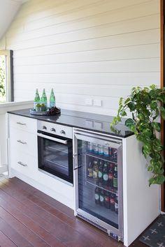 Interior design by Studio Black Interiors, O'Conner house, Canberra Black Interior Design, Residential Interior Design, House Canberra, Black Interiors, Alfresco Area, Cottage Homes, Kitchen Appliances, Studio, Cork