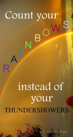 Words  - Inspiration  - Rainbow - Thundershowers Parola  - Inspirazione  - Arcobaleno - Pioggia -