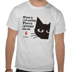 Cat Principle Tee Shirts