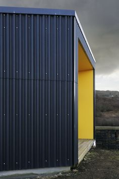 Black House - Rural Design Architects - Isle of Skye and the Highlands and Islands of Scotland Steel Cladding, House Cladding, House Siding, Facade Design, Exterior Design, Metal Sheet Design, Black House Exterior, Warehouse Design, Tin House