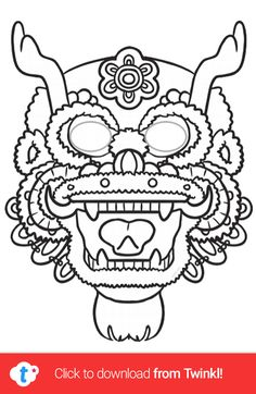 A great craft activity to celebrate Chinese New Year! Print this mask template for your children to decorate with coloured pens, feathers, gems, anything they like! Why not use the masks as a discussion prompt to learn more about why Chinese New Year is celebrated? Click to download and find more Chinese New Year activities over on the Twinkl website. #chinesenewyear #cny #mask #dragon #dragonmask #masktemplate #teaching #parents #twinkl #twinklresources #homeschooling #craftsforkids #crafts Chinese New Year Activities, New Years Activities, Craft Activities, Illustrator Shapes, New Years Song, Chinese New Year Dragon, Dragon Mask, Chinese Calendar, Dragon Dance