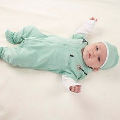 """""""Big Dreamzzz"""" Baby M.D. Two-Piece Layette Set in """"Doctor's Bag"""" Gift Box http://timelesstreasure.theaspenshops.com/product/big-dreamzzz-baby-md-twopiece-layette-set.html"""