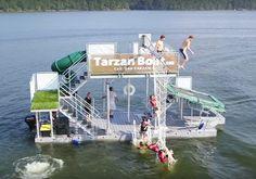 Tarzan Boat, un singular parque acuático móvil http://blogueabanana.com/estilo-de-vida/tarzan-boat.html