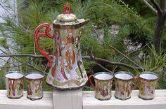 6-Pc-Signed-Satsuma-Moriage-Chocolate-Pot-Cups-Set