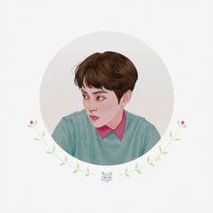 Kyungsoo, Baekhyun Fanart, Kpop Fanart, Chanyeol, Exo Stickers, Exo Anime, Exo Merch, Exo Lockscreen, Exo Fan Art