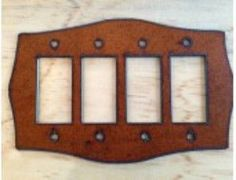 Rustic Quad Rocker Lightswitch Cover