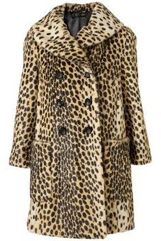 Topshop Leopard Vintage Faux Fur Coat, $200. Over the top? Yes, and I want it.