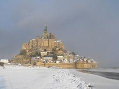 #MontSaintMichel #Normandy #France #Hiver