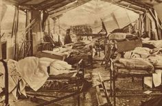 British field hospital bombed by German aircraft