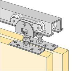 Kerf Track: Plastic kerf track for sliding cabinet doors. Packaged ...