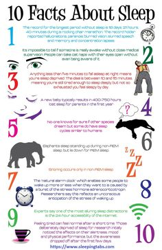 Ten Amazing #Facts about sleep.